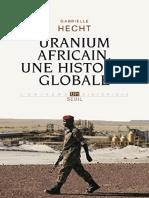 Uranium africain. Une histoire - Gabrielle Hecht
