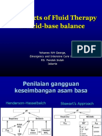 Effect of Fluid Therapy on Acid Base Balance