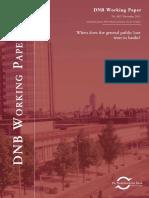 When does the general public lose trust in banks? David-Jan Jansen, Robert H.J. Mosch, Carin A.B. van der Cruijsen