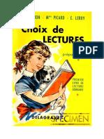 133207457 Langue Francaise Lecture Courante CP Choix de Lecture Pouron Picard Leroy