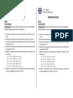 Actividad - Geometría Analítica II - 4to - 4to Bim - A