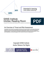 Overview Threat Risk Assessment 76