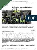 """""""RIC"""" - 4 questions sur le référendum populaire chez les """"gilets jaunes"""""""