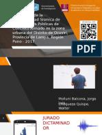 Evaluación de la Vulnerabilidad Sísmica de Edificaciones Públicas de Concreto Armado en la zona urbana del Distrito de Ocuviri, Provincia de Lampa, Región Puno - 2017 -  Presentación UNA by Sky