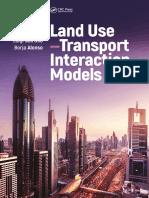 Rubén Cordera, Ángel Ibeas, Luigi Dell'Olio, Borja Alonso-Land Use-transport Interaction Models-CRC Press (2018)