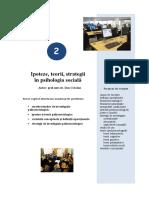 Tema 2a Ipoteze, Teorii, Strategii in Psihosociologie