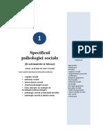 Tema 1 Specificul psihologiei sociale.doc