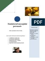 Tema 7 Emitatorul mesajului persuasiv.doc