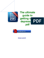 The Ultimate Guide to Getting Over Depression PDF