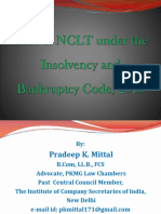 Role for NCLT - PK Mittal