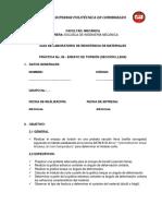 Guía Del Ensayo de Torsión Sección Llena
