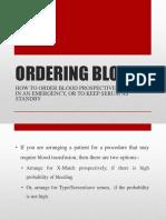 Ordering Blood
