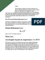 Radiation Laws