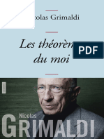 Grimaldi, Nicolas - Les théorèmes du moi (2013, Grasset, 978-2-246-80341-6)