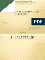 Studiu Individual La Discilina