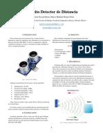 Sensor de Distancia HC-SR04 con arduino