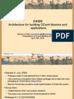 OCaml Meeting 2010 OASIS Slides