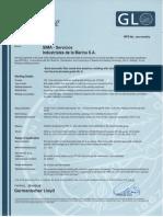 Certificado - WPS 11 y 12 (FCAW Con Backing 3G y 1G)