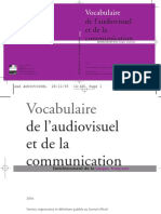 - Vocabulaire de l'Audiovisuel Et de La Communication