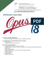 Manual Curso de Operación Opus 18