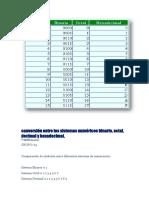 Conversión Entre Los Sistemas Numéricos Binario