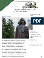 La obra de Spinoza en El desarrollo del pensamiento crítico de Marx