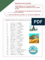 prépositions pays exercices et corrigés