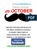 All Editorial in One PDF 26 October (Editorial Jugaad)