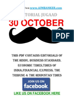 All Editorial in One PDF 30 October (Editorial Jugaad)