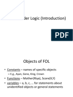First Order Logic (Introduction)
