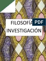 Filosofia e Investigacion