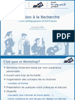 Presentation Workshop Initiation Recherche 13 Mai 2017