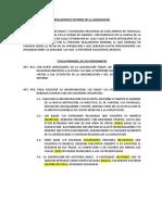 Reglamento Interno de La Agrupacion