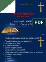 Biblia - Taller 01.01 Que Es La Biblia (Hno Rodolfo Andaur)
