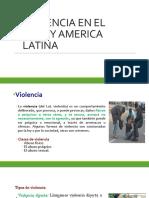 Violencia en El Perú y America Latina