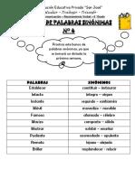 BANCO DE PALABRAS SINONIMAS N° 4