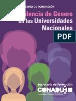Cuadernillo de Formación sobre violencia de género en las Universidades nacionales