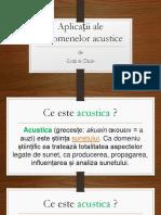 Aplicatii Ale Fenomenelor Acustice