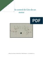 1° Diseño de control de Giro de un motor