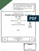Anuario Climatológico Chile 1920