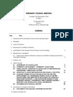 20181218 Agenda Ordinary Council Meeting