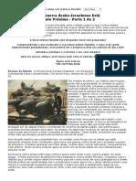 A Próxima Guerra Árabe-Israelense Está Extremamente Próxima - Parte 1 de 2