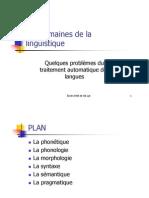 3-Les Domaines de La Linguistique