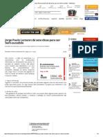 Jorge Paulo Lemann Dá Sete Dicas Para Ser Bem-sucedido - InfoMoney 27.11.2013.