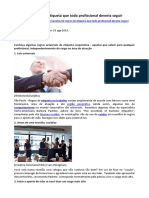 ARTIGO - COMUNICAÇÃO - 10 Regras de Etiqueta Que Todo Profissional Deveria Seguir (Exame)