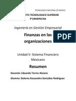 Resumen. Sistema Financiero Méxicano. Kassandra