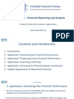 R33 Financial Statement Analysis Applications