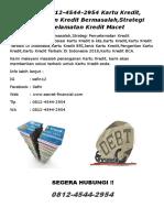 (T-Sel) 0812-4544-2954 Kartu Kredit, Penanganan Kredit Bermasalah,Strategi Penyelamatan Kredit Macet