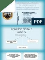 Grupo 1. Gobierno Digital y Abierto