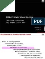 Estrategias de localizacion para gestion de operaciones